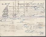 The Washington Iron Company to S. A. Wood, Bill of Lading