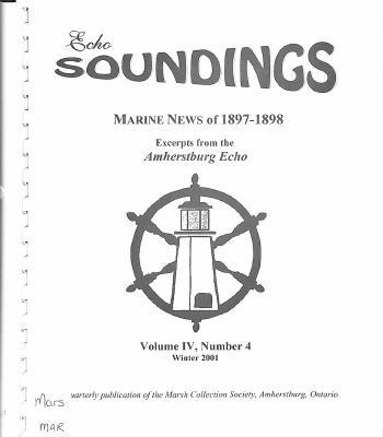 Echo Soundings: Marine News of 1897-1898