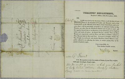 Treasury, Circular, 15 November 1819