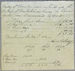 Lashby, Invoice, 8 December 1818