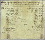 Mitchell, Invoice, 10 October 1821