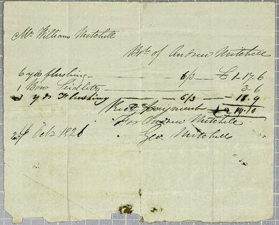 Mitchell, Invoice, 27 October 1821