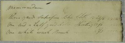Mitchell, Invoice, 31 October 1821