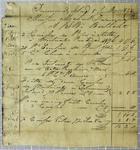 Berthelot, Invoice, 8 July 1822