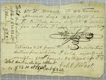Blodget, Invoice, 12 October 1822