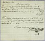 A. J. Dallas, Invoice, 1 October 1826