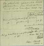 Charles O. Ermatinger, Invoice, 16 July 1827