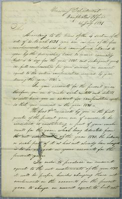 Treasury Department, letter, 26 July 1831