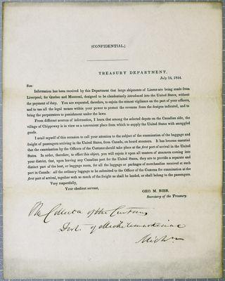 Treasury Department, Circular, 24 July 1844