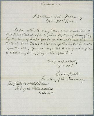 Treasury Department, Circular, 21 November 1844