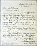 GreenBay customs office, letter, 12 October 1858