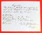 Waugoshance Light House, Supplies, Requisition, 1 October 1852