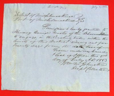 William, Permit, 2 July 1853