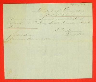 Planet, Permit, 11 April 1854