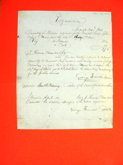 Ocean, Requisition, 24 March 1848