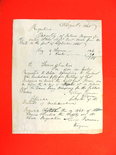 Ocean, Requisition, 1 August 1848