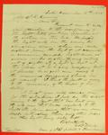 E. B. Ward to S. K. Harring, re Detour light, Correspondence, 18 November 1848