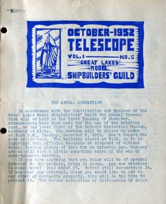 Telescope, v. 1, n. 5 (October 1952)