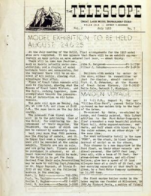 Telescope, v. 2, n. 7 (July 1953)