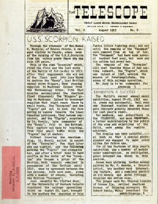 Telescope, v. 2, n. 8 (August 1953)