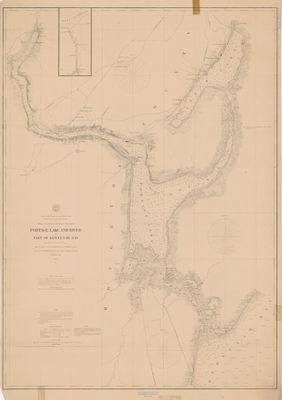 Portage Lake and River with Part of Keweenaw Bay, 1865