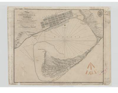 Plan of Toronto Harbour, Lake Ontario