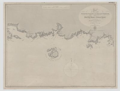 Chart of Part of the North Coast of Lake Superior from Small Lake Harbour to Peninsula Harbour [1823, 1861]