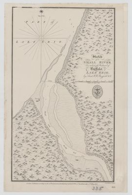 Sketch of a Small river Ten miles to the Westward of Buffalo, Lake Erie