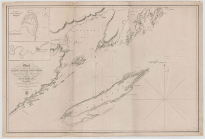 Chart of part of the North Coast of Lake Superior from Grand Portage Bay to Hawk Islet, including Isle Royale [1823-25]