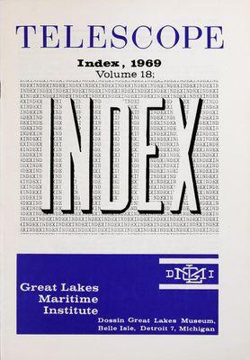 Telescope, v. 18 (1969), Index