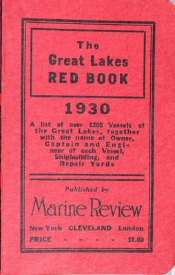 The Great Lakes Red Book, 1930