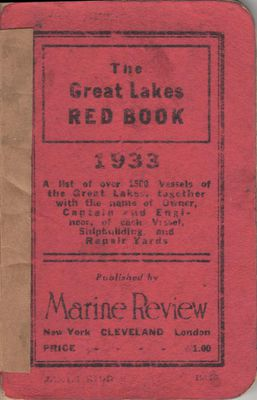The Great Lakes Red Book, 1933