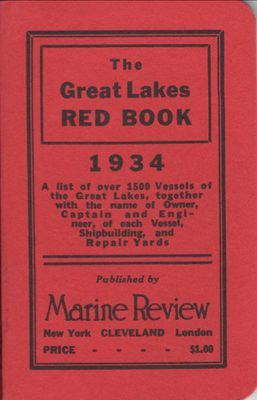 The Great Lakes Red Book, 1934