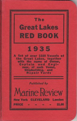 The Great Lakes Red Book, 1935