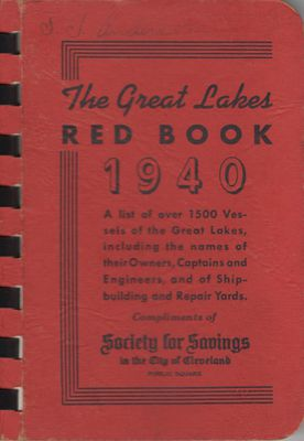 The Great Lakes Red Book, 1940
