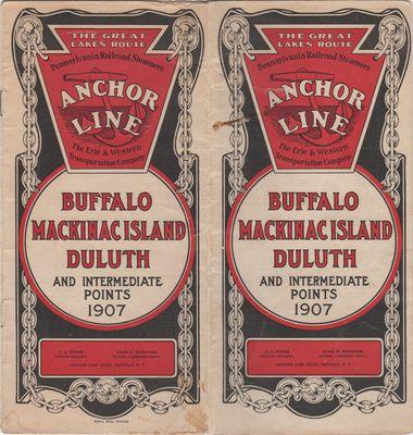 Anchor Line: Buffalo, Mackinac Island, Duluth and Intermediate Points, 1907
