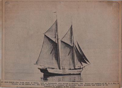 """Pioneer Tar Tells Why He Went """"On the Waggon"""": Schooner Days CC (200)"""