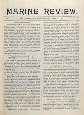 Marine Review (Cleveland, OH), 31 Dec 1891