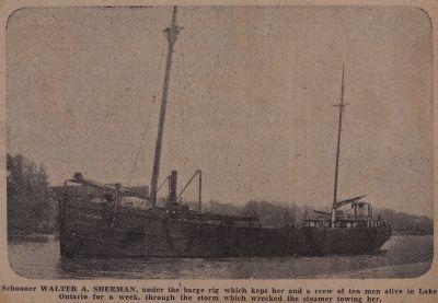 Sails Saved Sherman When Steamer Couldn't Live: Schooner Days CCCLXXXII (382)