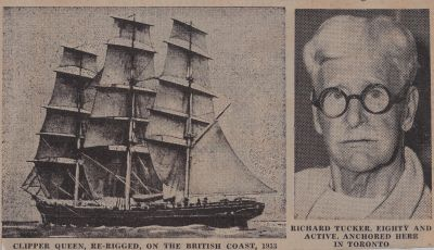 Clipper Sailor from the Cutty Sark: Schooner Days CCCCXLIII (443)