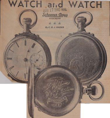 Watch and Watch: Schooner Days CCCCXLVII (447)