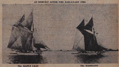 Esplanade Fire and some of Its Phoenixes: Schooner Days CCCCLV (455)