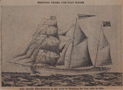 She Went to Germany for Railroad Iron--The Jessie Drummond: Schooner Days CCCCLXXXIX (489)