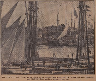 """Patrons of Port Union - """"CALEDONIA"""" built there: Schooner Days DXLII (542)"""