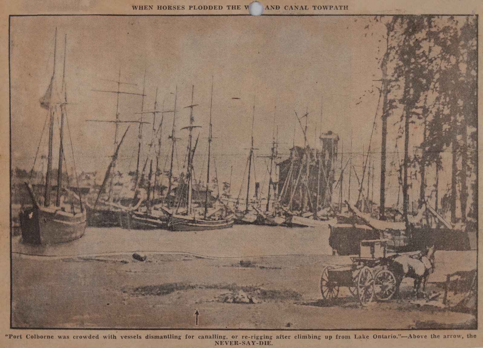 """Lakes to Liverpool Eighty Years Ago in """"NEVER SAY DIE"""": Schooner Days DLXXXV (585)"""