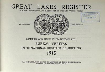 Great Lakes Register 1915