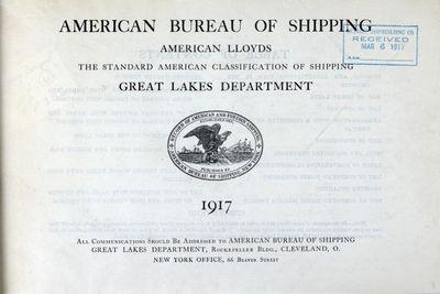 American Bureau of Shipping, American Lloyds, Great Lakes Department, 1917