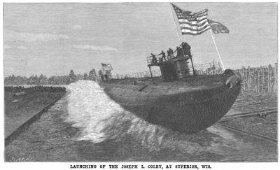 The McDougall Whaleback Steel Vessel