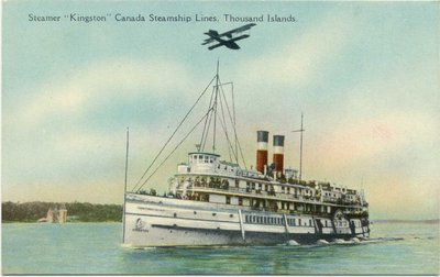 "Steamer ""Kingston"" Canada Steamship Lines, Thousand Islands"