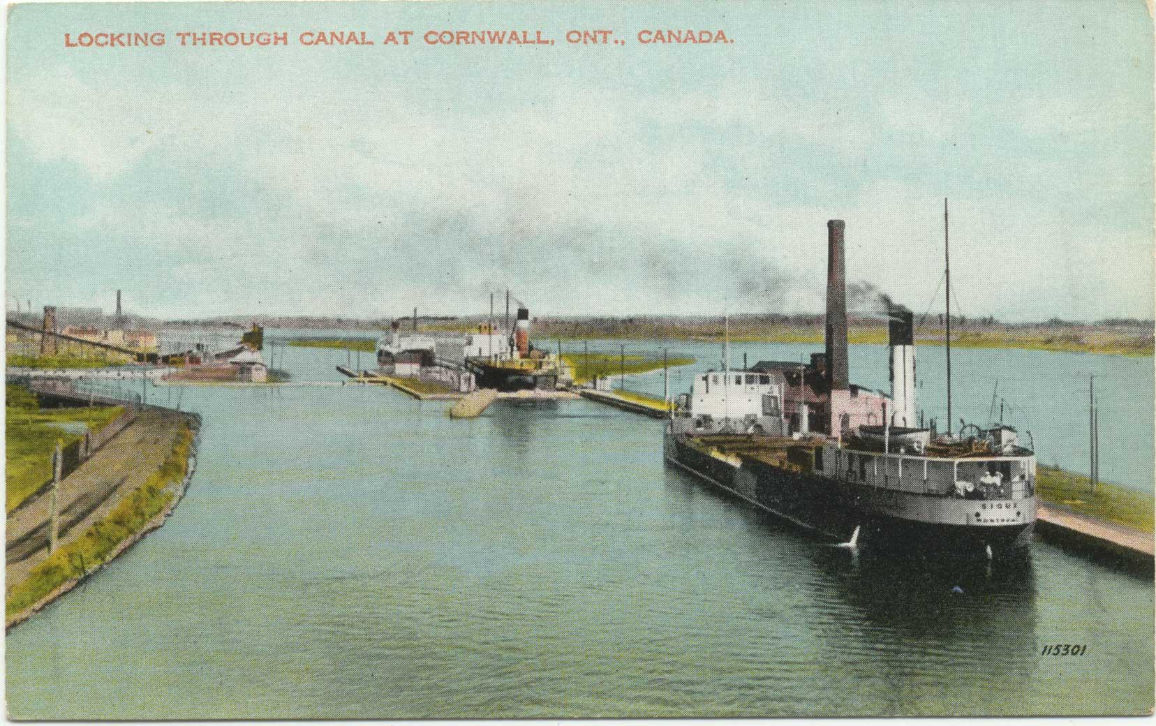 Locking through Canal at Cornwall, Ont., Canada